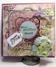 THINKING OF YOU Flower Gift Card Word Hampton Art NEW Medium CRAFT RUBBER STAMP