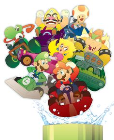 Mario Kart Pipe (Detail) by GuitarAtomik on DeviantArt Mario Kart Ds, Mario Bros., Mario Party, Mario And Luigi, Super Mario All Stars, Super Mario Games, Super Mario Art, Nintendo World, Anime Rules