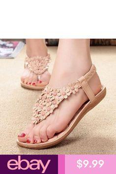 159d6677f909 Sandals Summer Women Bohemia Sweet Beaded Sandals Clip Toe Sandals ...