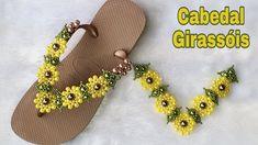 Diy Flowers, Flip Flops, Diy Crafts, Beads, Sandals, Floral, Aurora, Shoes, Origami