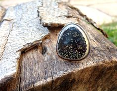 Turquoise rings. Size 8 ring. Sterling Silver and by Arrok on Etsy, $108.00