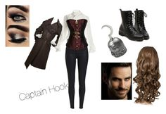 Once Upon A Time Captain Hook Cosplay by lola-laufeyson on Polyvore featuring Vivienne Westwood, Hermès, Once Upon a Time, women's clothing, women's fashion, women, female, woman, misses and juniors