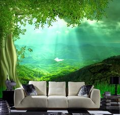 Online Shop Sofa background wall mural tv background wallpaper wall paper 3d big tree Aliexpress Mobile