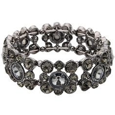 EVER FAITH® Round Austrian Crystal Vintage Style Elastic Stretch Bracelet -- Want additional info? Click on the image.
