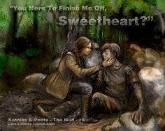 Hunger Games - Katniss finds Peeta - no.6 by ~lizzomarek on deviantART