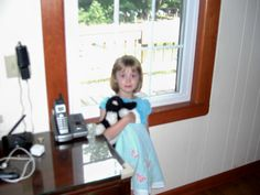 Carlee's 5 year old daughter. She's holding 'Bo' the President's stuffed dog.