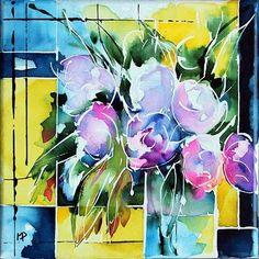Petit format 01 - Painting, 20x20 cm ©2012 by Véronique Piaser-Moyen - Painting