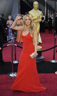 Jennifer Lawrence in Calvin Klein Collection at the 2011 Academy Awards.
