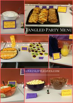 Tangled Party Menu