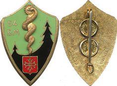 54° Bataillon Médical, émail, dos guilloché, Drago 1076 (6877) | eBay