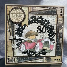 Card: Card for Dad 80th Birthday Cards, Cat Birthday, Happy Birthday, Scrapbook Page Layouts, Scrapbook Paper, Scrapbooking, Father Knows Best, Card Sketches, Masculine Cards