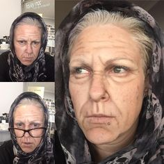 SPFX ageing with creams Old Age Makeup, Fix Makeup, Makeup Looks, Theatrical Makeup, Theatre Makeup, Special Effects Makeup, Hair And Makeup Artist, Costume Makeup, Professional Hairstyles