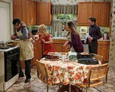 Thanksgiving cooking ~ Big Bang Theory Episode Stills ~ Season 7