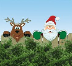 Santa's Watching Woodcraft Pattern