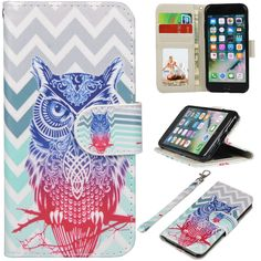 iPhone 7 Case, UrSpeedtekLive iPhone 7 Wallet Case, Premium PU Leather Flip Case Cover with Card Slots & Kickstand for Apple iPhone 7 - Chevron Owl Pattern. Customized design for Apple iPhone 7 ( NEW 2016). Durable synthetic leather exterior with magnet closure integrated with inner TPU snap on case provide full body protection for your phone against scratches, greasy dirt and abrasions. UrSpeedtekLive special pattern printed on the leather case dressing up your phone pretty, funny and…