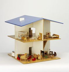 Open-sided wood dolls house, winner of the Observer Design Award 1969, United Kingdom, 1964-70, by Roger Limbrick for James Galt and Co. Ltd.