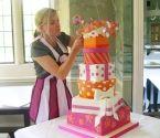 pink, orange, present box cakes  Fancy Nancy, leigh on sae, essex
