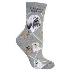 Lhasa Apso on Gray Argyle Socks Argyle Socks, Bolster Cushions, Tapestry Bag, Animal Rescue Site, Lhasa Apso, Novelty Socks, Dog Design, Animal Shelter, Dog Breeds