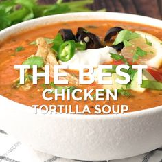 For years I've been making every chicken tortilla soup recipe out there and not really getting excited about any. Until now. Here's the Best Chicken Tortilla Soup I Ever Made.