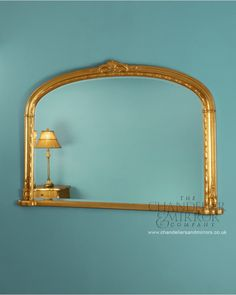 Eythrope Gold Overmantle Mirror