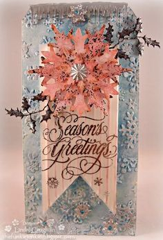 Tim Holtz Simple Snowflakes, Tim Holtz Stacked Snowflakes, Distress Oxide, Christmas Tag, The Funkie Junkie Boutique