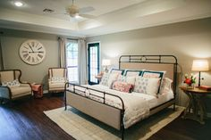 Fixer Upper   Season 3 Episode 5   The House of Symmetry Fixer Upper Bedrooms, Washable Rugs, Joanna Gaines, Guest Room, Toddler Bed, New Homes, Episode 5, Season 3, House