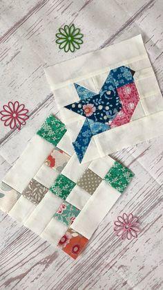 Patchwork Quilt Patterns, Scrappy Quilts, Easy Quilts, Mini Quilts, Quilting Projects, Quilting Designs, Motifs Applique Laine, Bird Quilt Blocks, Patch Quilt