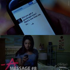 Message #8 from A. Sent to Emily. Emily's bedroom.  2 of 150 // Season 1, Episode 2. #pllmemorylane