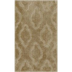 Maples Rugs Hannah Pattern Bath Rug Collection, Beige