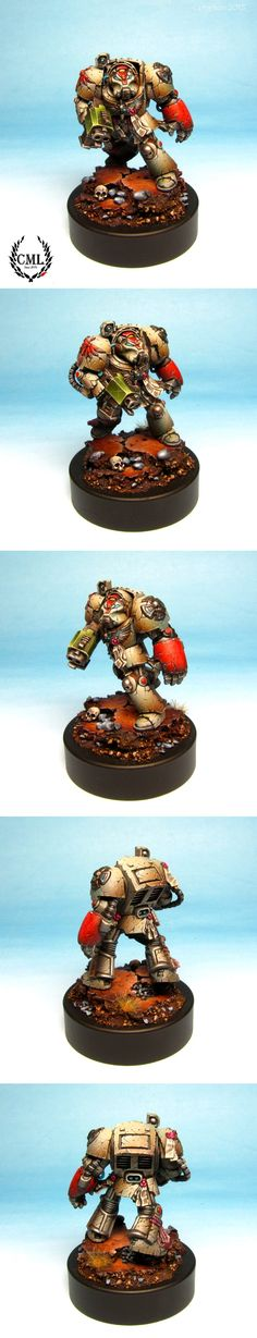 Warhammer 40k, Dark Angels Deathwing Terminator in the middle of one hard life