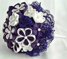 Image result for fabric kanzashi flower bouquet tutorial