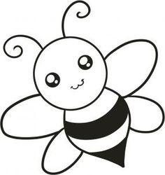 Arı boyama sayfası, Bee coloring page, Dibujo de abeja, Раскрашивание. drawing for kids arı boyama sayfaları Easy Drawing Images, Easy Drawing Steps, Easy Cartoon Drawings, Easy Drawings For Kids, Step By Step Drawing, Drawing For Kids, Cute Drawings, Drawing Ideas, Drawing Guide