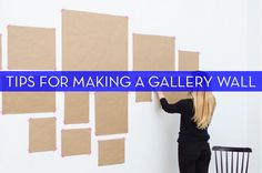 Tips for hanging a gallery wall.
