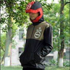 十代の若者たちの創造的なジップアップパーカーコスプレユニコーンガンダムバンシーコート