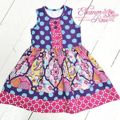Not yet released, this is a dress from our upcoming Bandana Breeze collection! #girls #clothes #SneakPeekER