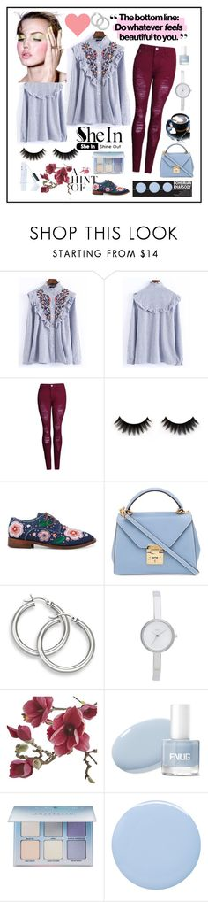 """With Sheln"" by explorer-14673103603 on Polyvore featuring WithChic, Anouki, Mark Cross, DKNY, Crate and Barrel, Anastasia Beverly Hills, Deborah Lippmann and Winky Lux"