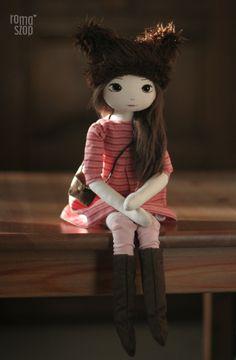 Misia – roma brunatna, handmade doll by romaszop