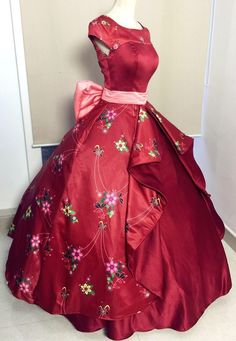 P310 elena of avalor costume movie cosplay princess party corset skirt belt custom made