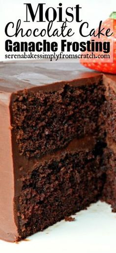What could possibly be a sexier dessert for Valentines Day then a moist slice of chocolate cake with rich ganache frosting? When I thin...