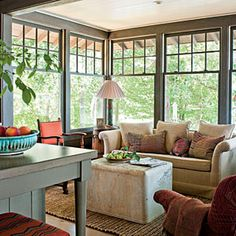 Design 180° Views | Lake House Decorating Ideas - Southern Living sun room!!