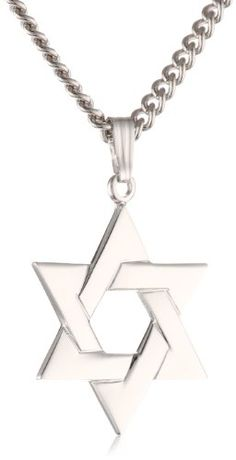 d74663ac38c1 This fine quality Star of David pendant is crafted from sterling silver and  showcased on a smooth
