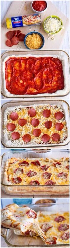 Pizza lasagna. You're welcome.