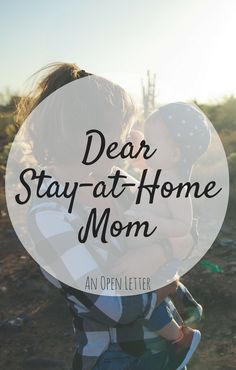 A MUST READ for all SAHM's! An open letter from a Working Mom.