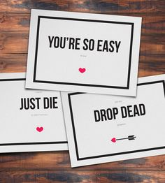 Items similar to Funny Printable Valentine's Day Cards (Pack of on Etsy Tell your Valentine how you really feel! Funny Printable Valentine's Day Cards Pack of 6 by LaStu Valentines Day Quotes For Friends, Printable Valentines Day Cards, Cards For Friends, Printable Cards, Funny Valentine, Be My Valentine, Valentine Gifts, Valentine's Day Quotes, Words Quotes