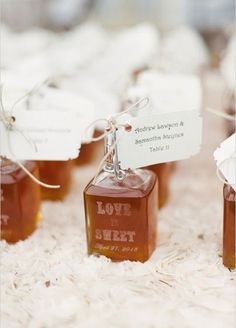 12. Love truly is sweet! Personalized jars of maple syrup are sure to put a smile on your guests' faces.