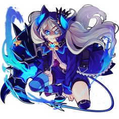 Chiliarch Lu Elsword, Elsword Game, Anime Angel, Anime Demon, Loli Kawaii, Kawaii Anime, Fan Anime, Anime Art, Character Concept