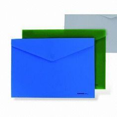 Clear File Folders, Made of PP, Available in Size of 365 x 238mm