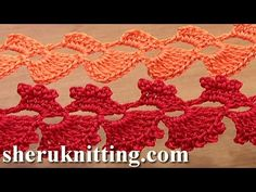 Crochet Asymmetrical Lace Tape Ribbon Tutorial 34