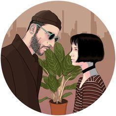 Leon and Mathilda by JimenaRED.deviantart.com on @DeviantArt