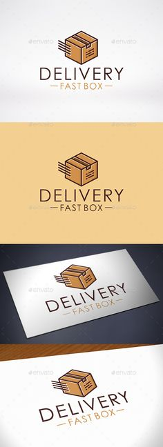 Fast Box Delivery Logo Template — Vector EPS #urgent service #trucker • Available here → https://graphicriver.net/item/fast-box-delivery-logo-template/10417856?ref=pxcr